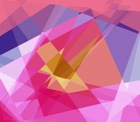 argyles: Colorful cubism abstract background Stock Photo