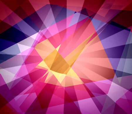 argyles: Colorful sun cubism abstract background Stock Photo