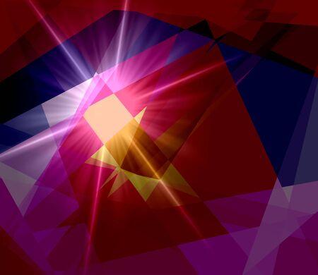 cubismo: Luz del sol Fondo colorido abstracto del cubismo Foto de archivo