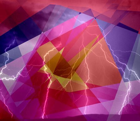 Colorful lightning cubism abstract background photo