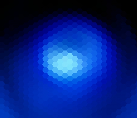 blue hexagon abstract background photo