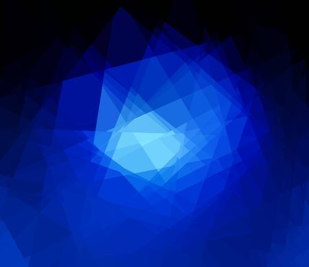 blue cubism crystal abstract background