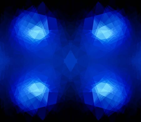 colorfuls: blue cubism crystal abstract background