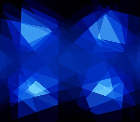 retros: blue cubism crystal abstract background