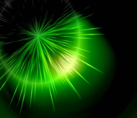Green star burst abstract background