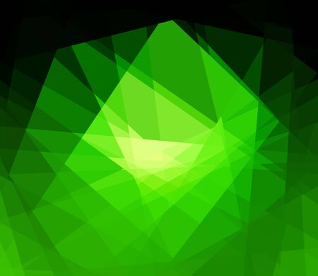 argyles: Green cubism crystal abstract background