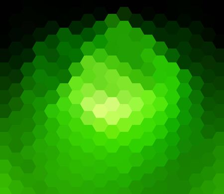 green hexagon abstract background photo