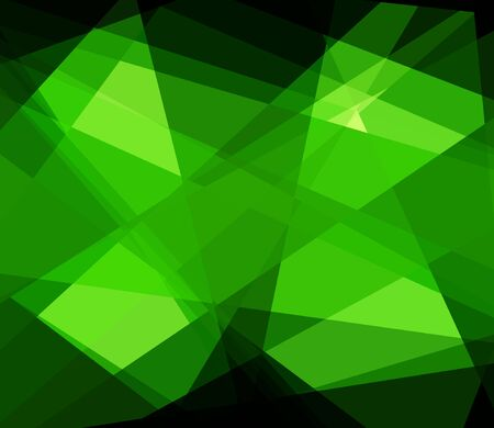 Green cubism crystal abstract background photo