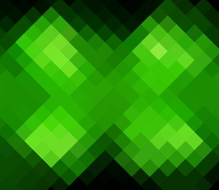 Green diamond abstract background