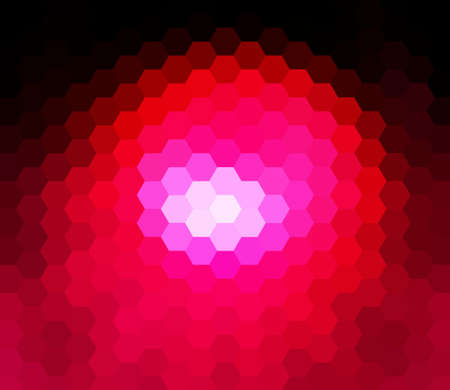 colorfuls: Red hexagon abstract background Stock Photo