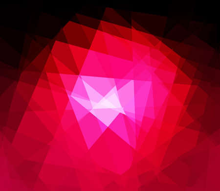 argyles: Red cubism crystal abstract background
