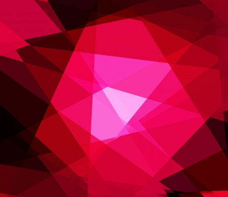 retros: Red cubism crystal abstract background