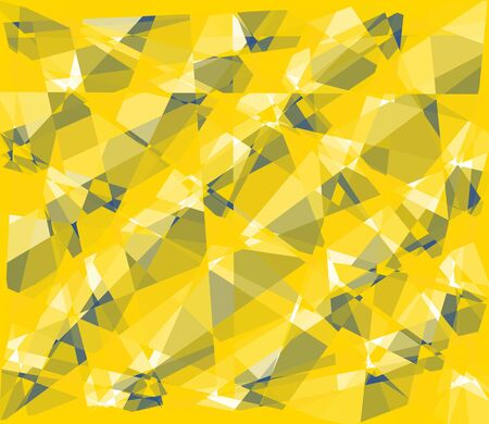 retros: yellow seamless cubism abstract background Stock Photo