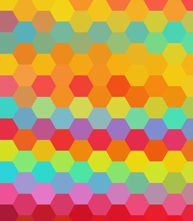 Colorful hexagon abstract background photo