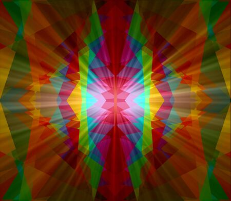 Colorful light cubism abstract background photo