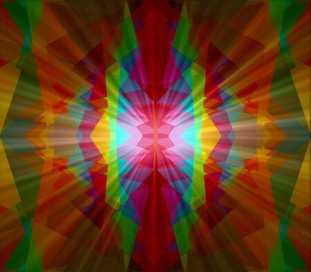 cubismo: Colorido cubismo luz de fondo abstracto Foto de archivo