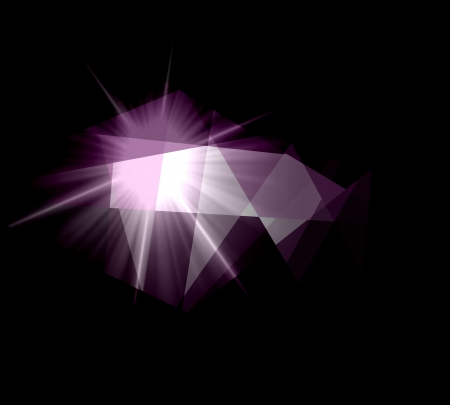 colorfuls: Purple cubism crystal abstract background Stock Photo