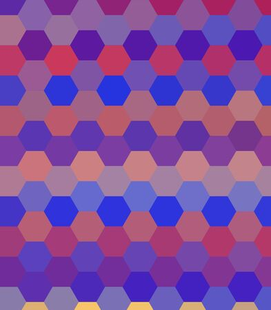 retro colorful hexagon abstract background photo