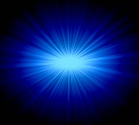 meteorites: blue light abstract background