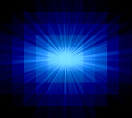 Abstract blue rays of light photo
