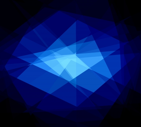 blue crystal abstract background photo