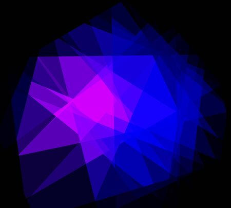 damasks: blue and purple cubism crystal abstract background