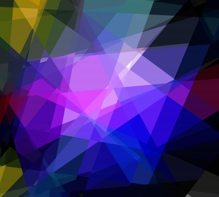 blue and purple cubism crystal abstract background photo
