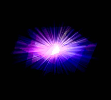 Purple sunlight over black background photo