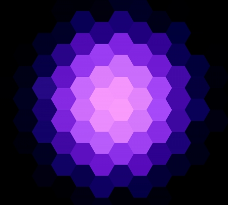 retros: Violet seamless hexagon abstract background Stock Photo