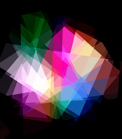 retros: Rainbow Colorful Crystal Abstract Background Stock Photo