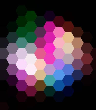 argyles: Rainbow Colorful Hexagon Abstract Background Stock Photo