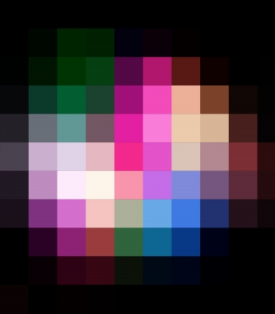 retros: Rainbow Colorful Square Abstract Background