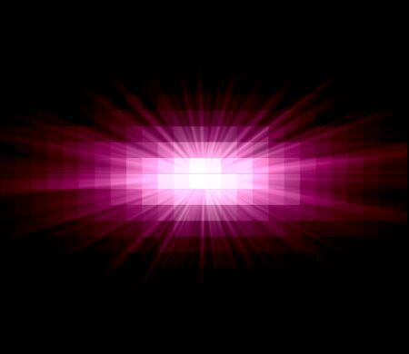 retros: Pink Sun Ray Abstract Over Black Background