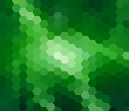 retros: Green Hexagon Abstract Background