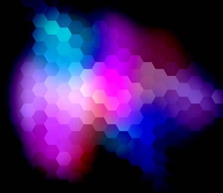 colorfuls: Colorful Hexagon Abstract Over Background
