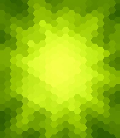 colorfuls: Green Hexagon Abstract Background