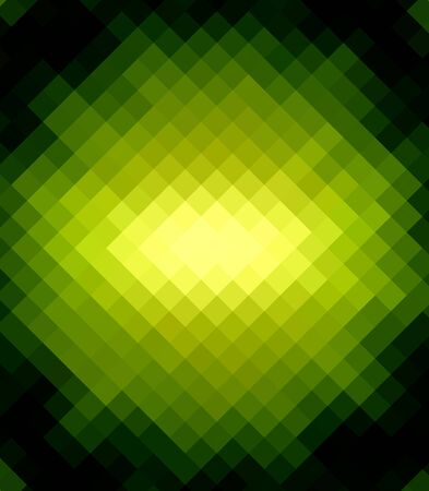 colorfuls: Green Diamond Abstract over Black Background Stock Photo
