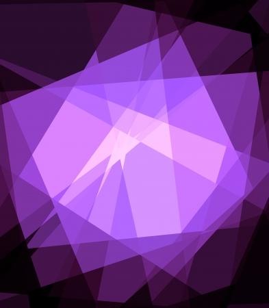 在黑色背景的紫色立體主義水晶摘要 版權商用圖片