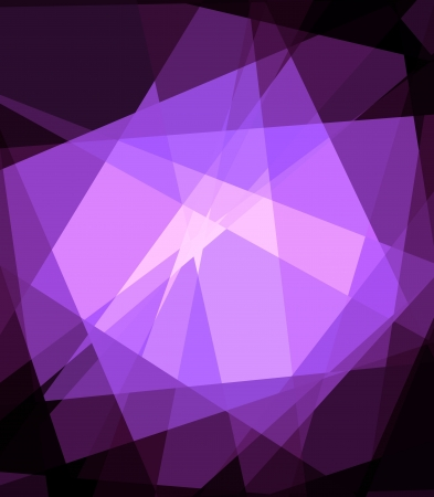 Purple Cubism Crystal Abstract over Black Background