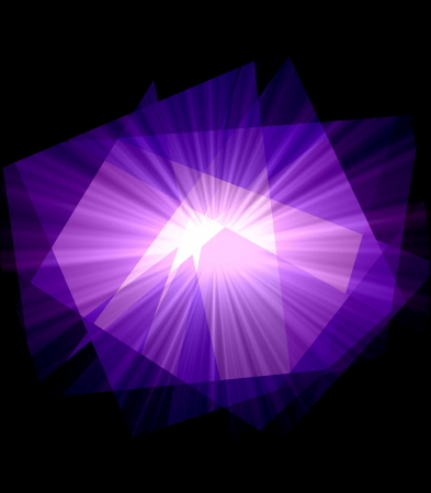 retros: Purple Cubism Crystal Abstract over Black Background
