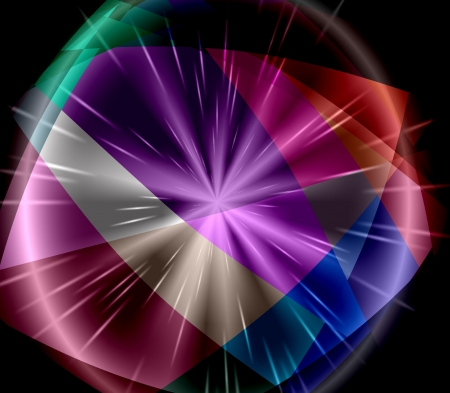 colorfuls: Colorful Cubism Crystal Abstract Background With Light Ray Stock Photo