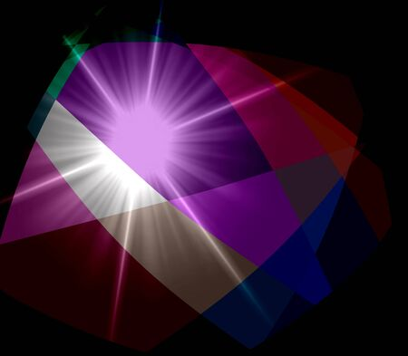 argyles: Colorful Cubism Crystal Abstract Background With Light Ray Stock Photo