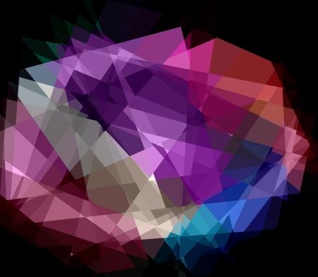 cubismo: Crystal cubismo colorido resumen de antecedentes para el dise�o Foto de archivo