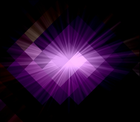 argyles: Purple Cubism Crystal Abstract Background With Light Ray Stock Photo