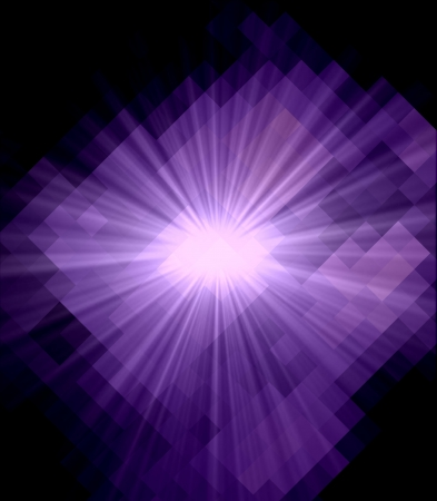 Purple Cubism Crystal Abstract Background With Light Ray Stock Photo