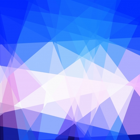 Blue Cubism Abstract Background With Light Ray