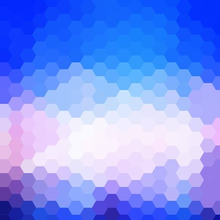 Blue Hexagon Abstract Background With Light Ray photo