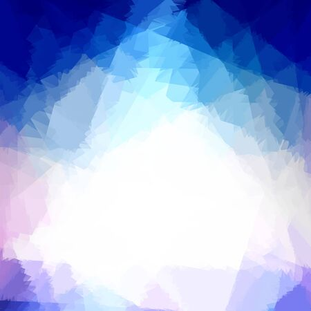 Blue Cubism Crystal Abstract Background photo
