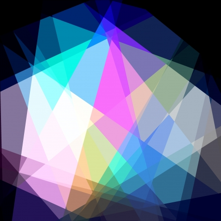colorfuls: Colorful Cubism Crystal Abstract Background For Design Stock Photo
