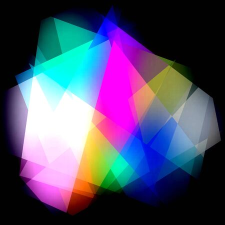 Colorful Cubism Crystal Abstract Background For Design photo